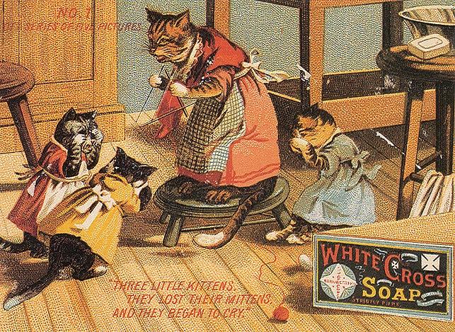 Винтажные открытки с котами 23