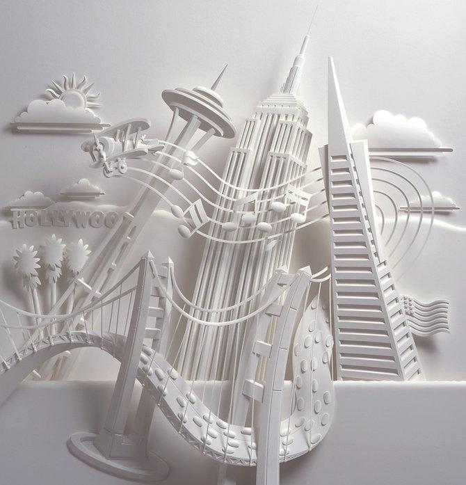 Скульптуры из бумаги от Джефа Нишинаки (JEFF NISHINAKA) 14