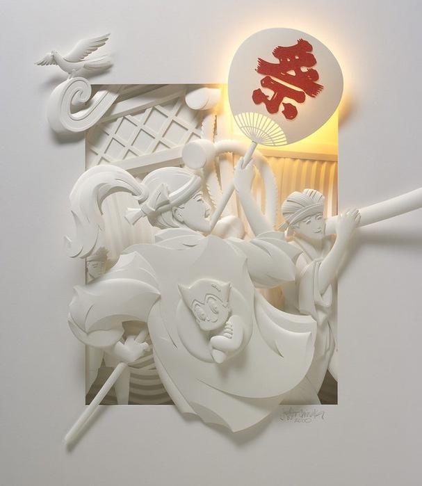 Скульптуры из бумаги от Джефа Нишинаки (JEFF NISHINAKA) 16
