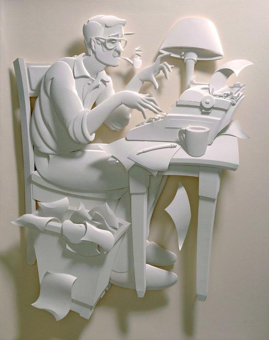 Скульптуры из бумаги от Джефа Нишинаки (JEFF NISHINAKA) 18