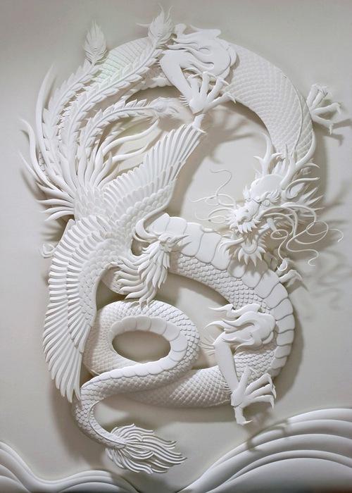 Скульптуры из бумаги от Джефа Нишинаки (JEFF NISHINAKA) 24