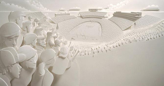Скульптуры из бумаги от Джефа Нишинаки (JEFF NISHINAKA) 1