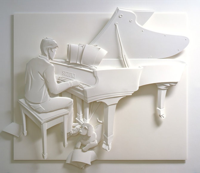 Скульптуры из бумаги от Джефа Нишинаки (JEFF NISHINAKA) 5