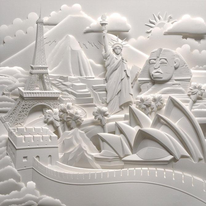 Скульптуры из бумаги от Джефа Нишинаки (JEFF NISHINAKA) 7