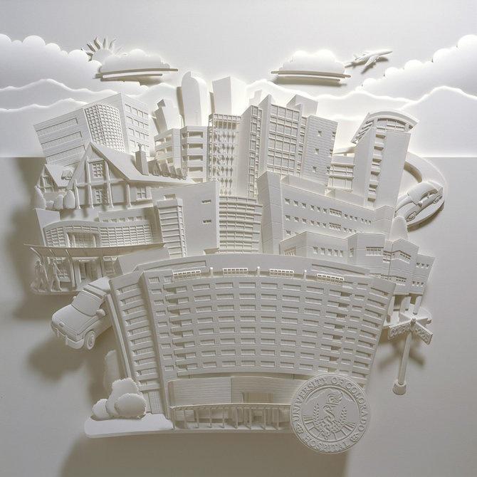 Скульптуры из бумаги от Джефа Нишинаки (JEFF NISHINAKA) 8