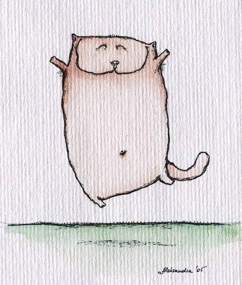 прикольные рисованные кошки....