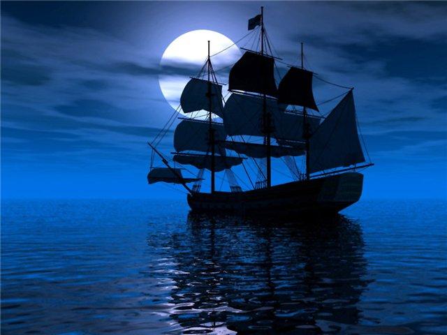 море гладко выковано из синего металла пестрые лодки рыбаков