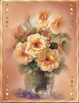 """Предпросмотр - Схема вышивки  """"Ваза с розами """" - Схемы автора  """"Lynna-yna """" - Вышивка крестом."""