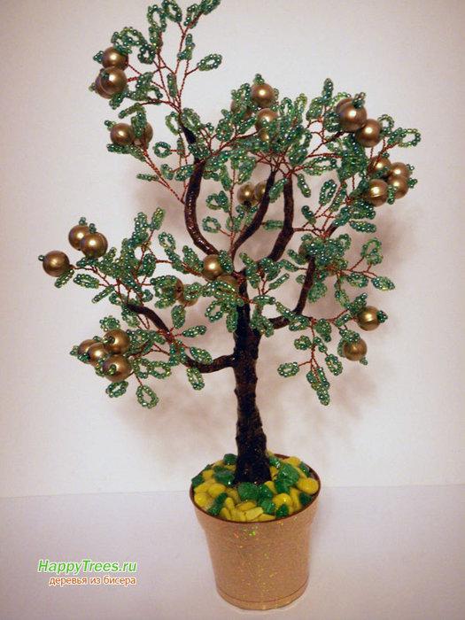 деревья из бисера схемы плетения для начинающих - Вышивка бисером.
