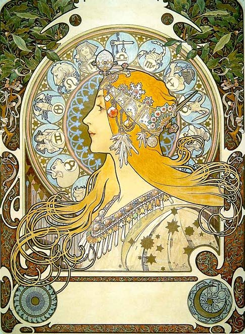 Альфонс Муха (Alphonse Maria Mucha) (1860–1939), чешский живописец, декоратор, основатель и мастер театральной и...