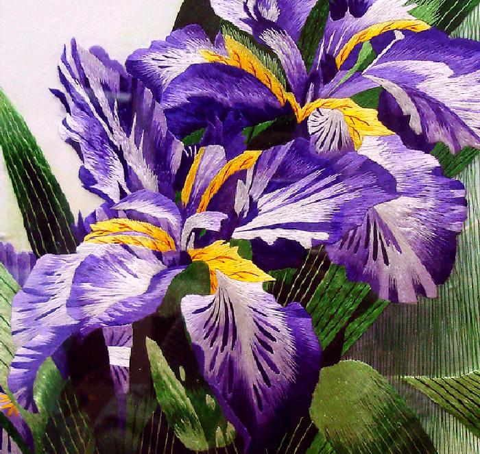 САЙТ.  Тонкая,элегантная вышивка китайских мастеров Цветы В дневник поместила не всё,их очень много...