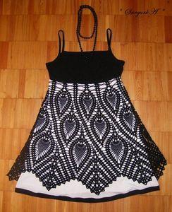 Схема от скатерти, и поэтому начало вязания для юбки и сарафана с 14 ряда, и примерно 6-8 рапортов...