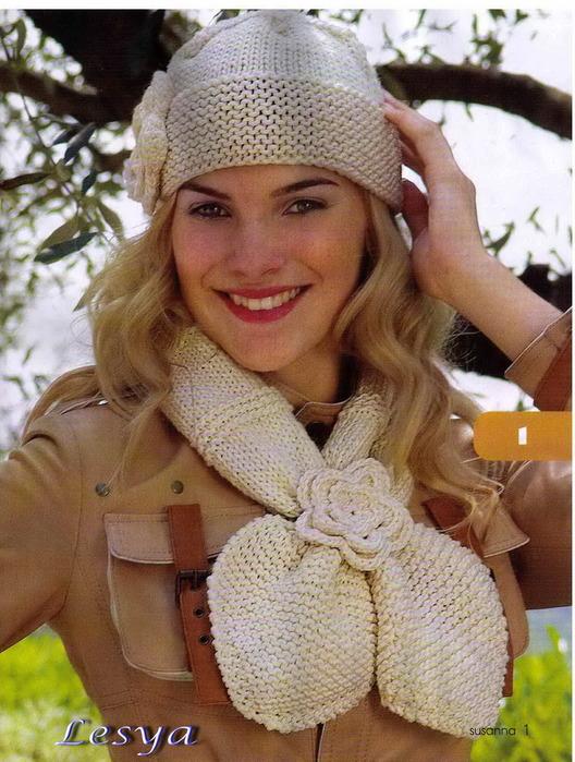 Вязание шарфиков и шапочек 711