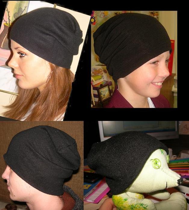 Модная трикотажная шапка своими руками 91