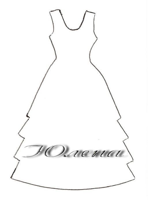 Выкройка платья на открытку 4