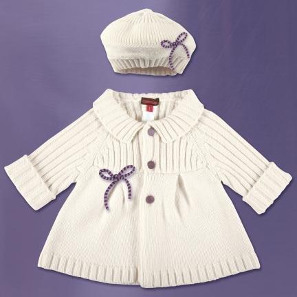 Вязание крючком для детей пальто.