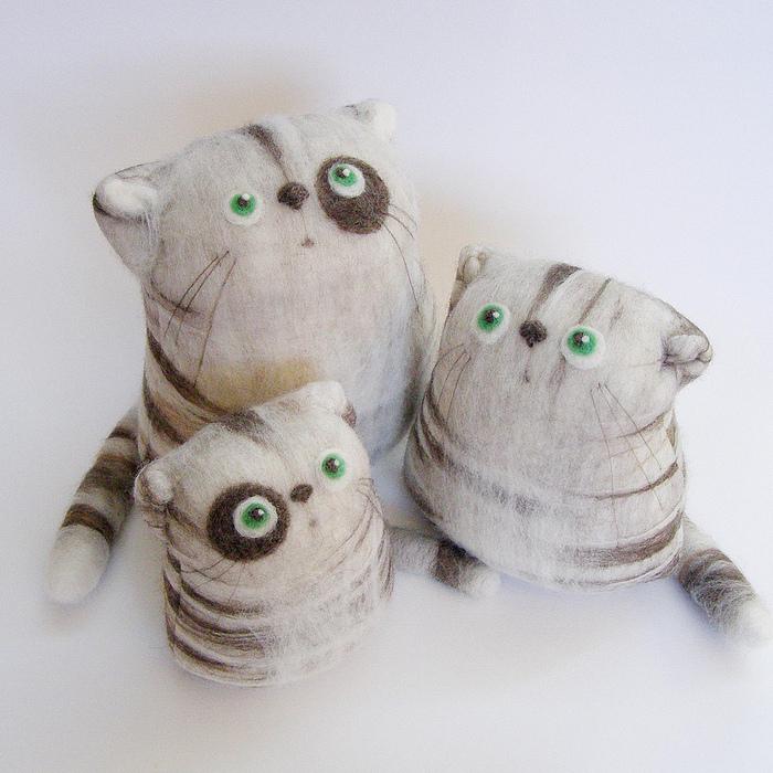 Войлочные кошки (21 фото) .