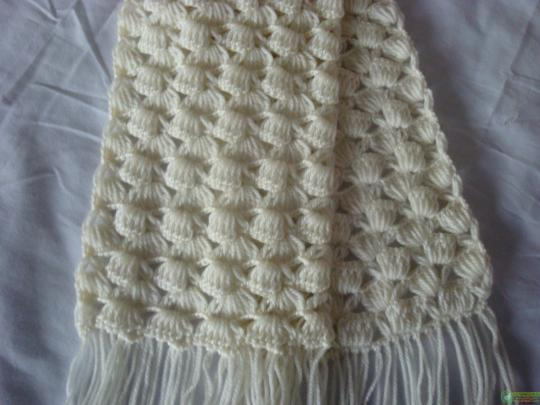 шарф крючком схемы фото — шарф