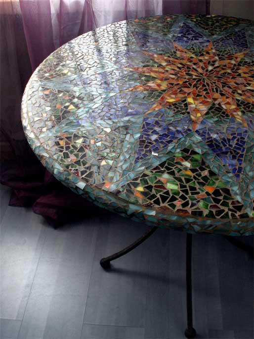 Декорирование стеклянной столешницы своими руками