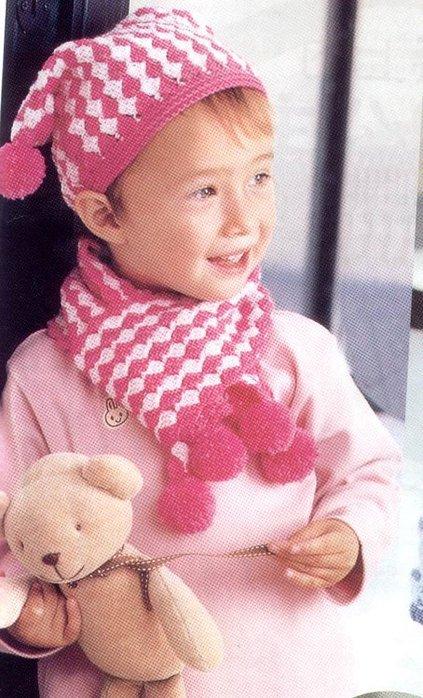 детская шапочка и шарф b крючком/b.