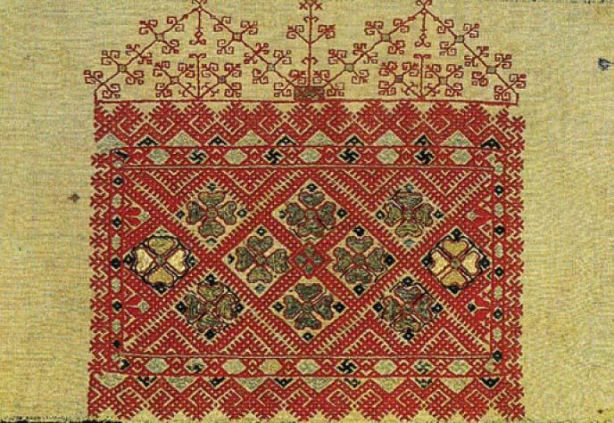 Русская вышивка 13 век 26