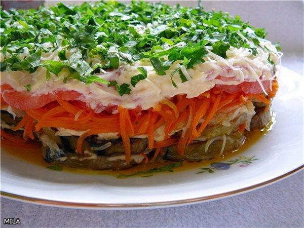 Баклажанный салат с