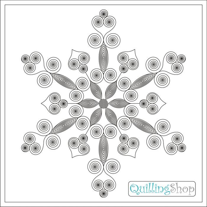 QuillingShop.ru: Схема для квиллинга: рождественская квиллинг снежинка, для изготовления квиллинг снежинок обычно...