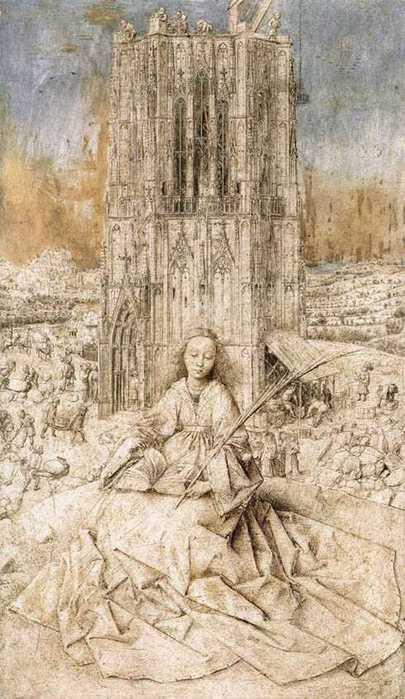 Ян ван Эйк. Святая Варвара (1437 год)