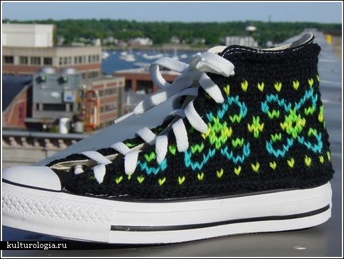 Вязаная обувь - Muz4in.Net.