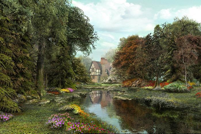 Невооруженным глазом видно, что Дэвисон является последователем голландского художника XIX века, мастера пейзажей...