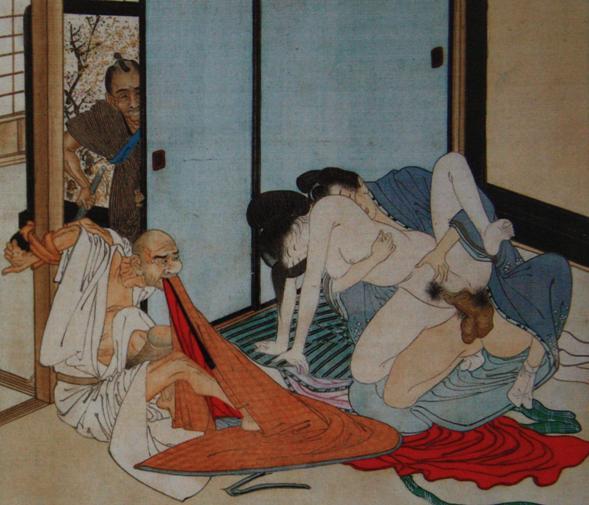Сюнга - одно из направлений японской ксилографии, изображающее.