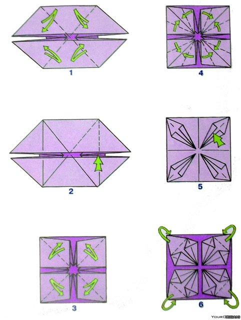 Модульное оригами, шары кусадама для начинающих, схемы сборки / Оригами для детей и начинающих.
