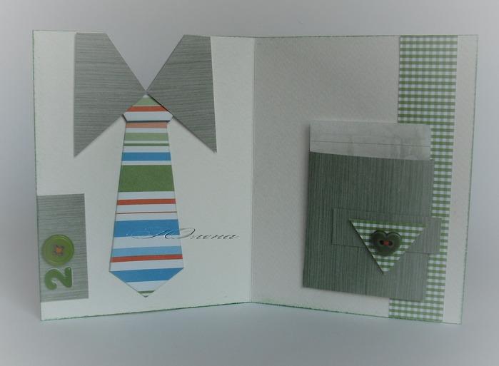 Как сделать кармашек из бумаги для открытки 121