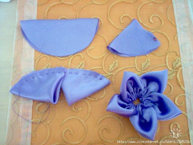 Цветы из тканикак сшить 20