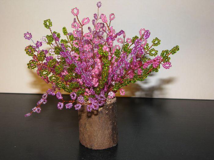 Деревья и цветы из бисера.  В цитатник или сообщество.  Нравится.