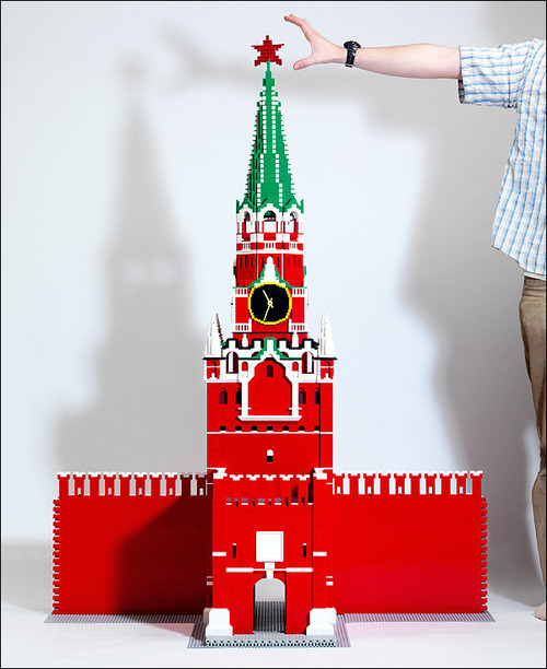 Model of Spasskaya tower of the Moscow Kremlin.