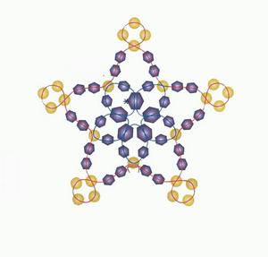Схема новогодних снежинок из бисера, стекляруса и бусинок.