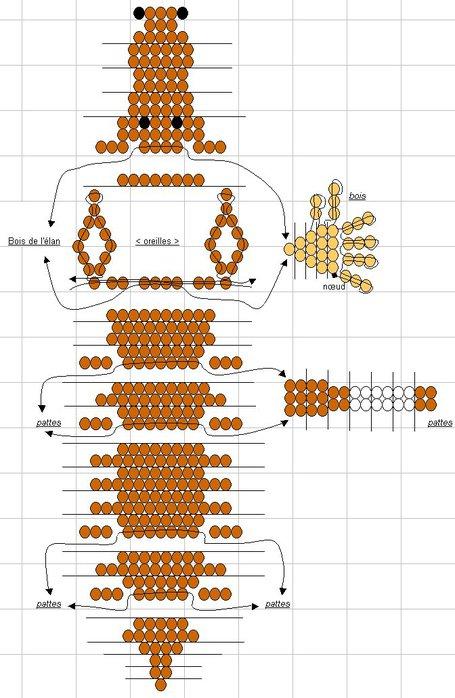 Схема плетения лошадки из
