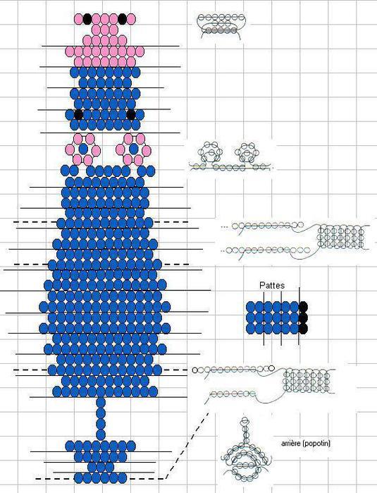 BiCer.ru - бисер для детей, схемы бисероплетения украшений.
