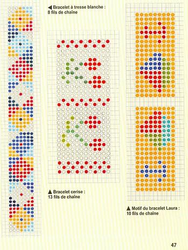 Бисер. браслеты с рисунком на станку схемы
