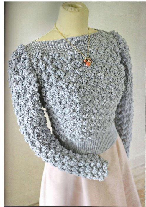 Вязание, свитер с шишечками из The_Knitter 2009_09.  Прочитать целикомВ.