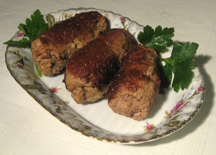 Зразы из говядины с грибами