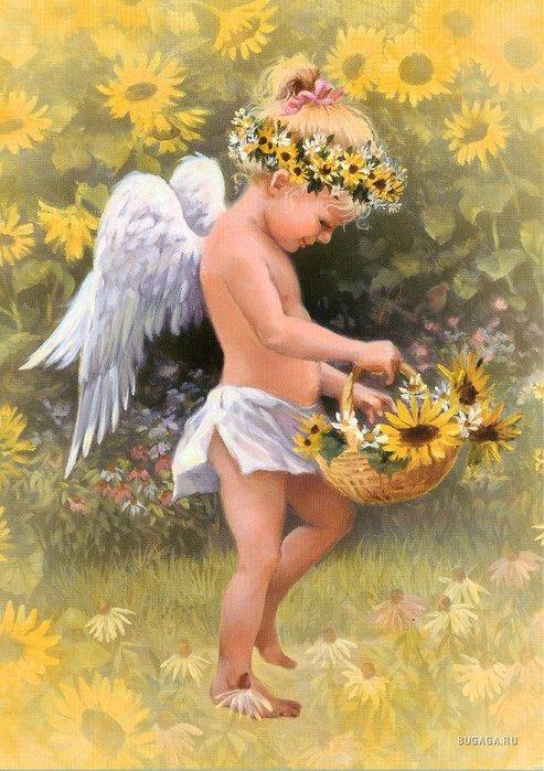 Цветы подобны ангелам крылатым, А ангелы,как белые цветы, Достойны восхищенья,обожанья, Не ждут они возмездья и...