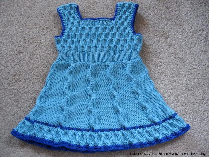Вязанные платья для девочек.