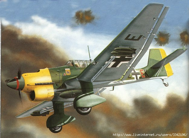 Uhru юнкерс ю-87 штука -одномоторный двухместный пикирующий бомбардировщик и штурмовик!