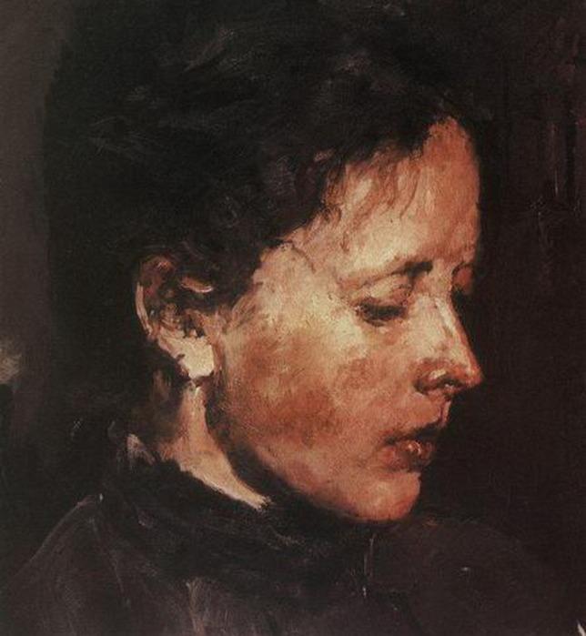 У окна портрет о ф трубниковой 1886