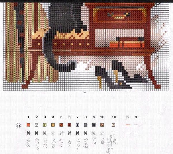 Схема вышивки для офиса 67