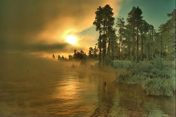 На тему зимний пейзаж пейзаж