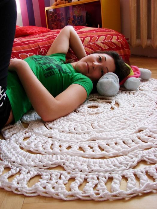 Оригинальные коврики своими руками.
