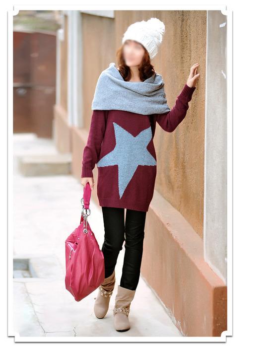 Двухсекционный свитер